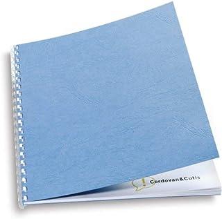 GBC CN40029 Pack de 25 Plats de Couverture 250 g/m2 Bleu Roi