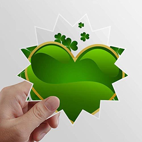 DIYthinker Adesivo de vinil trevo coração Irlanda Dia de São Patrício sol bagagem grafite flor decalque