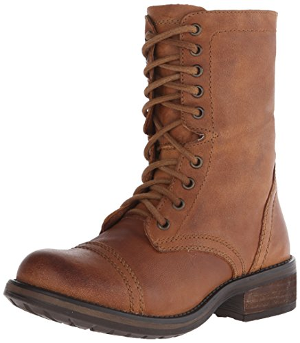 Steve Madden Women's Troopa 2.0 Combat Boot, Cognac Leather, 10 M US
