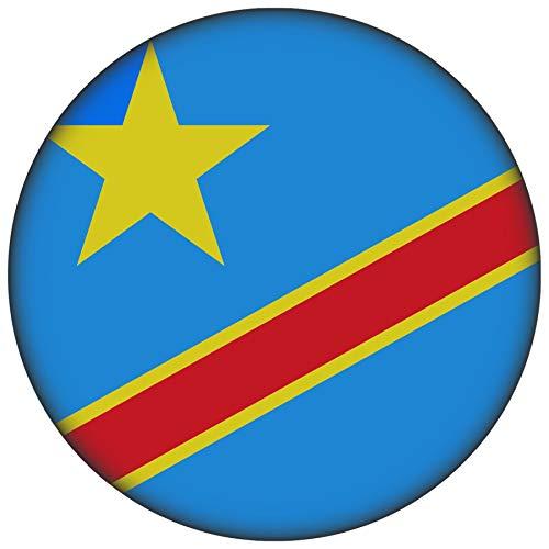 FanShirts4u Button/Badge/Pin - I Love KONGO Fahne Flagge (KONGO/Flagge)