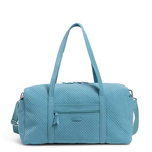 Vera Bradley Damen Microfiber Large Travel Duffle Bag Reisetasche, Strandblau, Einheitsgröße