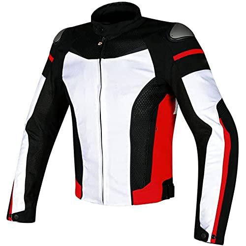 Chaqueta Moto Hombre con CE Protecciones, Textil Impermeable Armadura Chaqueta de Motocicleta Traje de Ciclismo con Forro Térmico e Reflectante (Color : E, Size : M)