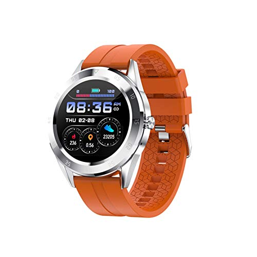 LYB Smart Band Bluetooth Llamada Women Watches SmartWatch Dail Presión Arterial Fitness Ritmo Cardíaco (Color : Orange)
