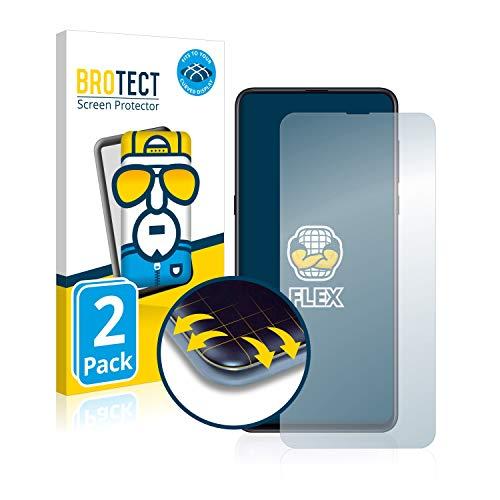 BROTECT Full-Cover Schutzfolie kompatibel mit Xiaomi Mi Mix 3 (2 Stück) - Full-Screen Bildschirmschutz-Folie, 3D Curved, Kristall-Klar