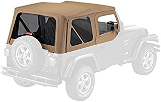 Pavement Ends by Bestop 51197-37 Spice Replay Replacement Soft Top Tinted Back Windows w/Upper Door Skins for 1997-2006 Jeep Wrangler