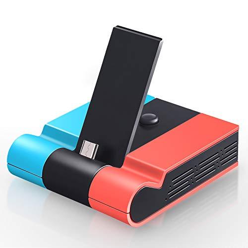 Faltbare TV Dock Ladestation für Nintendo Switch, Tendak Tragbares Typ C Switch Docking Station Ladeständer mit USB 3.0 Port und HDMI Adapter