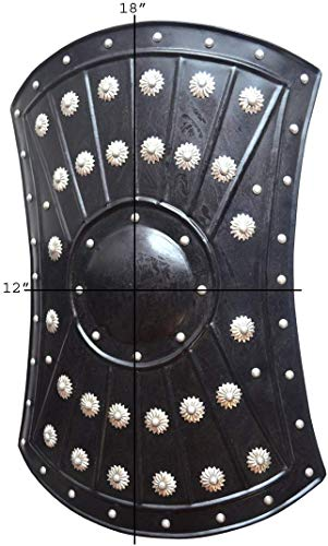 "Medieval Barbarian Armor Templar Viking 18"" Iron Shield ABS"