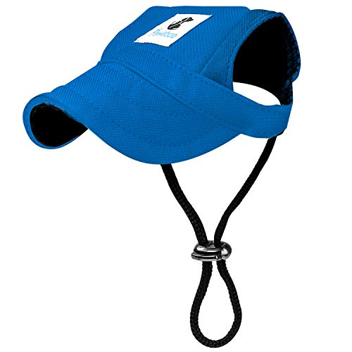 Pawaboo Gorra de Béisbol del Perro Gato,Ajustable Perro de Deporte al Aire Libre de Protección del Sol Sombrero de Béisbol Tapa Visera,Talla XL, Azul