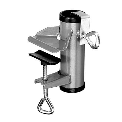 Stecto - Soporte para sombrilla de balcón, soporte para sombrilla de jardín flexible para valla, resistente para barandillas de balcón, fácil de instalar, máximo 38 mm