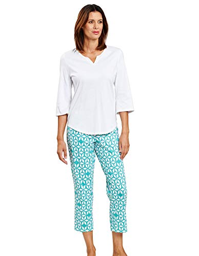 Rösch Damen Pyjama mit Grafikdruck, Smart Casual - Amina 1203005 48 Marrakesch