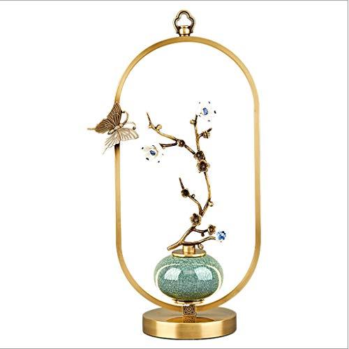 Lámpara de Mesa Nueva lámpara china cobre del estilo de la lámpara de estilo chino caliente dormitorio lámpara de cabecera de la sala de decoración Estudio Hotel Villa lámpara de mesa Lámparas de Escr