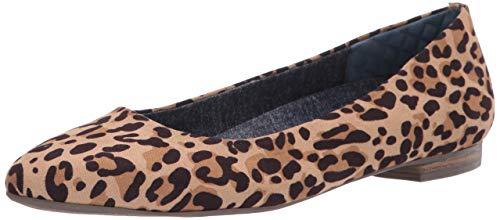 Dr. Scholl's Shoes Women's Aston Ballet Flat, Leopard Microfiber, 8 M US