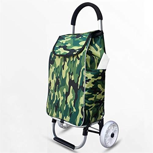 Einfache Idee Einkaufsreise Aluminiumlegierung Hand Lkw Einkaufswagen Zusammenklappbar Haushalt Tragbar Einrad Hebel Auto Kleine Anhänger Trolley, T-C, 3