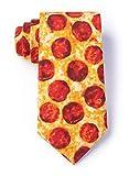 Wild Ties The Pizza - Corbata de microfibra, color amarillo