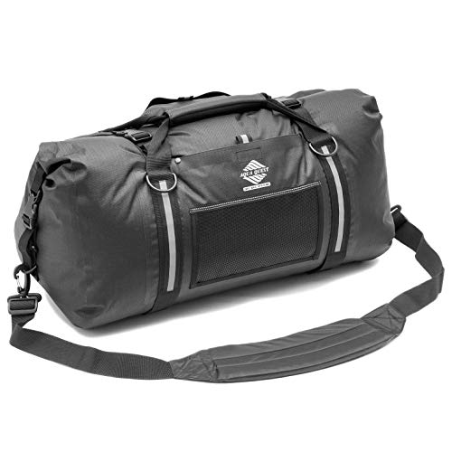 Aqua Quest WHITE WATER Bolsa Petate - 100% Impermeable - 50 L - Negro