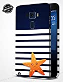 Jhingalala ® Blue Pattern with Star Fish Design Printed Mobile Back Case Cover for Asus Zenfone 3 ZE552KL