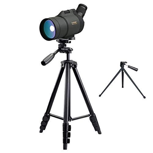 SVBONY SV41 25-75x70 Mini Mak Spotting Scope Compact and Powerful for Shooting Both Terrestrial and Astronomical Use Waterproof (4-section tripod)