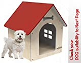 PetNest Wooden Water Proof Dog House Kennel Indoor and Outdoor Ideal for Small and Medium Pets 31 x 27 x 21.5 Inches