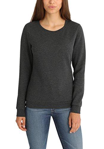 DESIRES Vicky O-Neck Damen Sweatshirt Pullover Sweater Mit Rundhalsausschnitt Und Fleece-Innenseite, Größe:S, Farbe:Dark Grey Melange (8288)