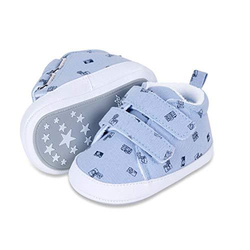 Sterntaler Baby-Schuh, Chaussures First Walker Mixte bébé, Ciel de lit, 17 EU