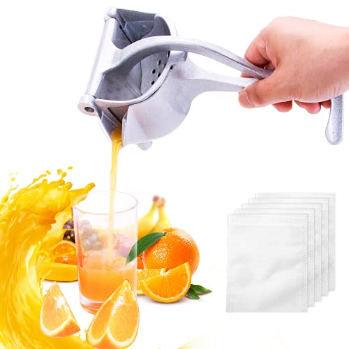 Manual juicer,plus 20 filter bags heavy-duty manual juicer, cocktail lemonade juicer Detachable Lime Squeezer