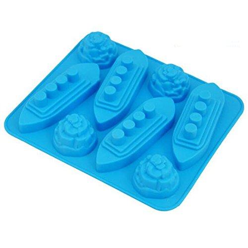 Titanic Moule Bac à Glaçons en Silicone outils Chocolat Glace Moule Couleur aléatoire DIY Lovely Freeze Barre