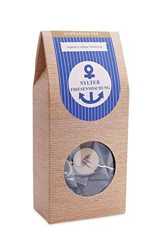 Schwarztee im Pyramidenbeutel kräftig Englisch Breakfast Ostfriesentee - Black Tea Sylter Friesenmischung 15 Beutel Mehr Meer Sylter Teekontor