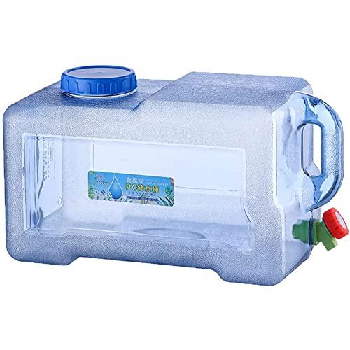 BEIDACON 2021 Nuevo Camping con Grifo Tanques de Agua Recipiente de Agua Cubo de Camping Recipiente Jerrican con Grifo y Asa Tanque de Agua Potable para Acampar con Pico de Plástico Grueso