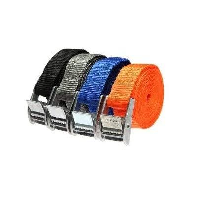 DeliaWinterfel 4pcs Cinghia con Fibbia in Metallo - per Valigie e Borse, Facile Soluzione per Migliorare la Sicurezza - 250cm by