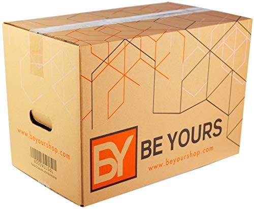 Pack da 10 Grandi Scatole Cartone con Manici - 500x300x300 mm - Scatole Trasloco Molto Resistenti - Fabbricate in Europa