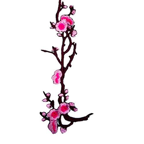YuoungYuan Pegatinas para Ropa con Plancha Parches Parches de Bordado Apliques para Ropa Placas y Parches para Planchar Recorte de Encaje de algodón para Coser Pink