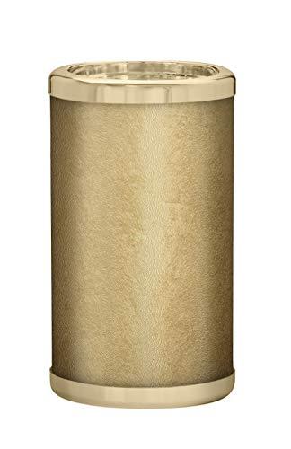 PLATEX 730051830 Bouteille Isotherme avec RECHARGES EUTECTIQUES-Bague Doree SOLFETO Gold, Plastique-Gel Tissu, H22,5cm-Ø13cm