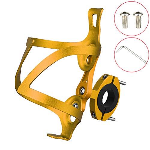 Macabolo Jaula de aleación de aluminio, base ajustable para biberones de bicicleta, práctico soporte para bicicleta al aire libre