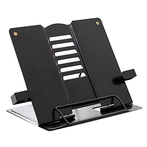 joyMerit Soporte de Libro Robusto Portátil para Libros de Texto, Tableta, Libros, Libro de Cocina, Documento - Piano Negro