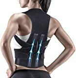 KRIM Premium Steel Plate Back Brace Posture Corrector Therapy Shoulder Belt for Lower and Upper Back Pain Relief with Magnetic Plates at back Back Support Man & Woman (SMALL-MEDIUM) shoulder and back corrector Apr, 2021