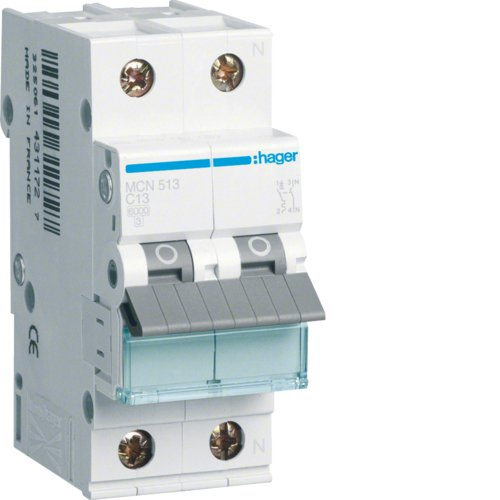 Hager HAGETIMCN513 LS-Schalter 13A 1polig C+N, 1 Stück