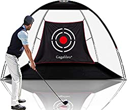 🏌️EASY SETUP GOLF NET: Golf Net open size is10'(W)x7'(H)x6'(D).The favorite things about the Galileo Golf Net is that it takes just two minutes to set up and another two minutes to pack it away. Easy setup Golf Hitting Net would save your precious pe...