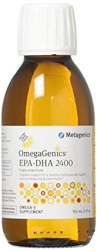 Metagenics OmegaGenics® EPA-DHA 2400 – Liquid Omega-3 Oil – Daily Supplement to Support Cardiovascular, Musculoskeletal, Immune System Health   150 mL