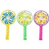 YDOZ Juguetes 3pcs / Set Molino de Viento plástico silbido Mango de Alineado Pinwheel para niños Aleatorio de Color