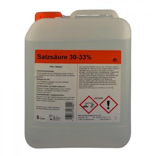 Salzsäure 30-33% techn. 5 L