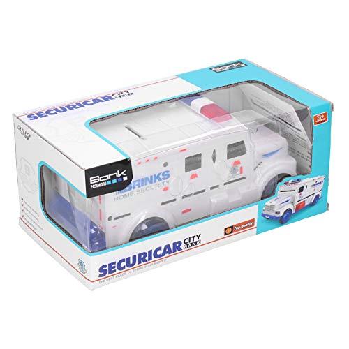 Caja de dinero para camiones, hucha electrónica, caja fuerte de seguridad, diseño exquisito, plástico portátil para regalo de niños, jugando por encima de 3 años(white)