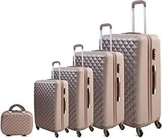 Limra Luggage Trolley Bags set of 5Pcs, Gold - 2651