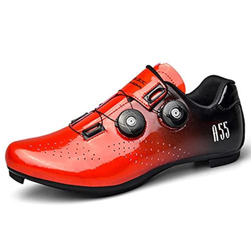 snfgoij Zapatillas de Ciclismo de Carretera para Hombre, Zapatillas de Bicicleta de...