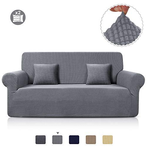TAOCOCO Sofa Überwürfe Jacquard Sofabezug Elastische Stretch Spandex Couchbezug Sofahusse Sofa Abdeckung in Verschiedene Größe und Farbe (Hellgrau, 3-sitzer(180-230cm))