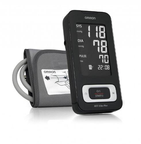 Omron Mit Elite Plus - Tensiómetro de brazo, color negro