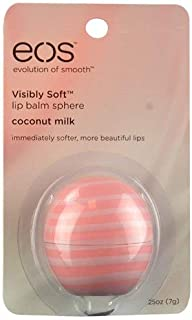 EOS Visibly Soft? Lip Balm Sphere Coconut Milk -- 0.25 oz - 2pc