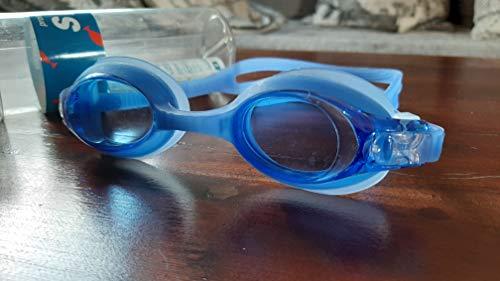 Centrostyle, Swimmi - Gafas de natación graduadas azules (M) para miopía e hipermetropía, Gradazione +4.00