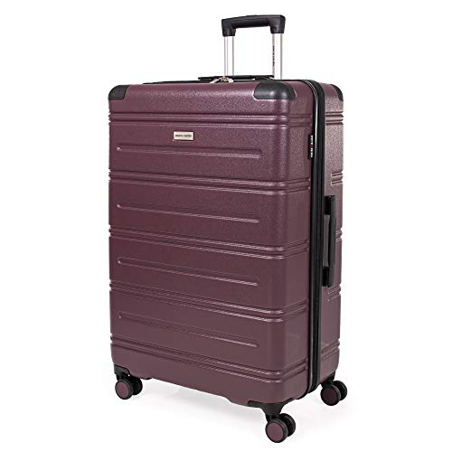 Pierre Cardin ABS Hard Shell 30 Inch Suitcase - Travel Luggage with 8 Spinner Wheels | Telescopic Drag Handle | Hard Sided Suitcases Weighing 4.6 kg Cap 96L Height 76.5 cm CL889 (Large)
