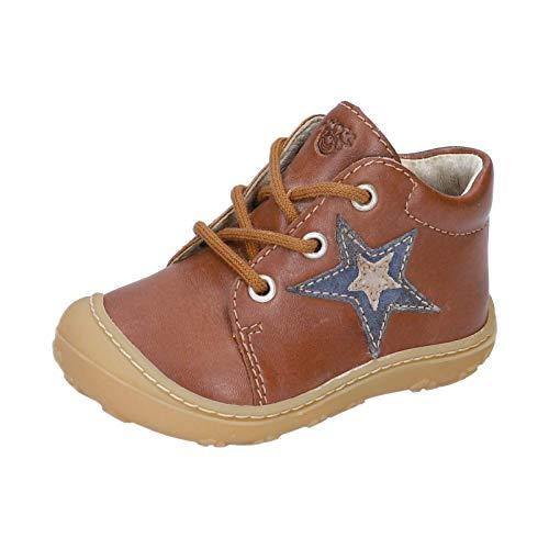 RICOSTA Unisex - Kinder Lauflern Schuhe Romy von Pepino, Weite: Mittel (WMS), Kids junior Kleinkinder Kinder-Schuhe toben,Cognac,26 EU / 8 Child UK