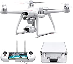 Potensic Dreamer Pro Drones with Camera for Adults, 3-Axis Gimbal GPS Quadcopter with 2KM FPV Transmission Range, 28mins Flight, Brushless Motor, Auto-Return, Portable Carry case and 32G SD Card